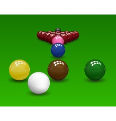 Snooker pyramid balls vector