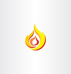 Fire flame icon logo element vector