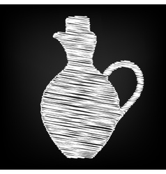 Amphora sign scribble effect vector