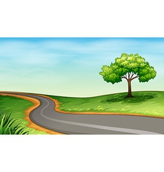 A narrow road vector image