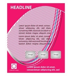 Abstract pink flyer template vector