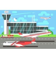 Airport flat vector