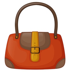 An orange handbag vector image