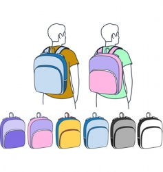 backpacks vector image vector image