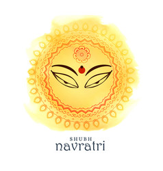 Beautiful maa durga goddess eyes for navratri vector