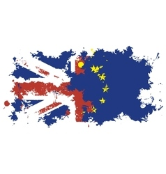 Britain and the European Union vector image