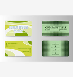 Business card set template for business vector