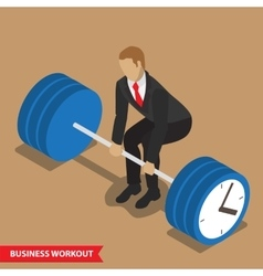 business workout deadlift vector image vector image