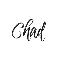 Chad text design calligraphy typography vector