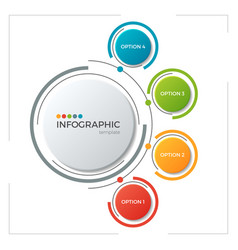 Circle chart infographic template with 5 options vector