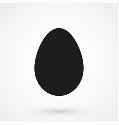 egg icon vecor black on white background vector image vector image