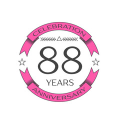 Eighty eight years anniversary celebration logo vector