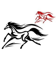 Fast running horse vector