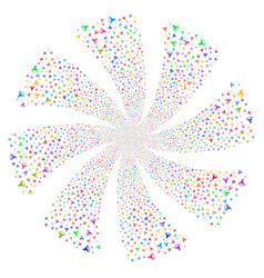 Filter fireworks swirl rotation vector