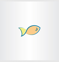 Fish icon logo element design vector