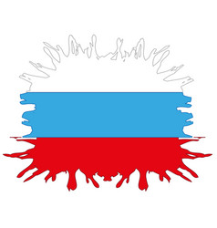 Flag to russia inkblot vector