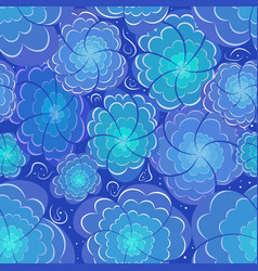Flower floral seamless pattern background vector