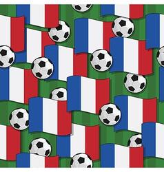 france football pattern vector image