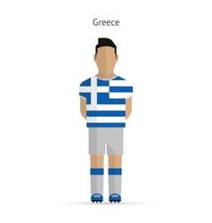Greece football player soccer uniform vector