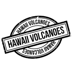 Hawaii Volcanoes rubber stamp vector image
