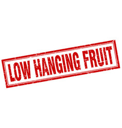 Low hanging fruit square stamp vector