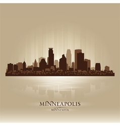 Minneapolis Minnesota skyline city silhouette vector image