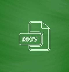 Mov computer symbol vector