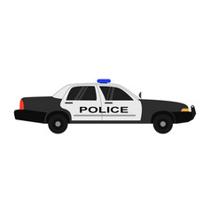 Police car realistic isolated vector