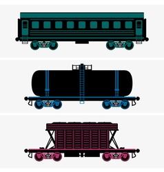 Railroad cars vector