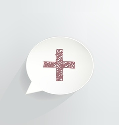 Red Cross vector image