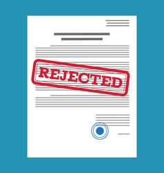 Rejected paper document vector