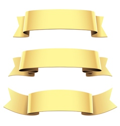 Ribbon set gold vector
