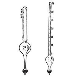 Salinometer alcoholometer vector
