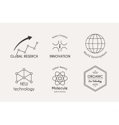 science logo set vector image vector image