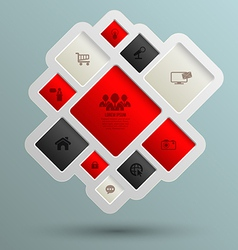 Square for business concepts with icons vector