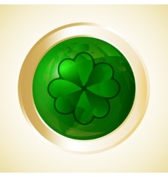 St patricks day button vector