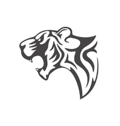 Tiger head tattoo template vector