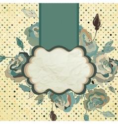 Vintage flower paper background eps 8 vector