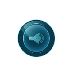 Web button sound on white background design vector