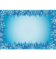 Winter decorative frame vector