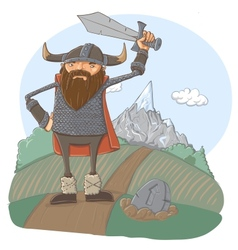 Cartoon viking vector