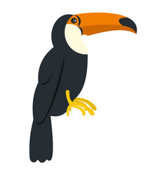 Toucan ramphastos vitellinus icon isolated vector