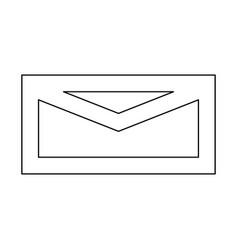 Mail black color path icon vector