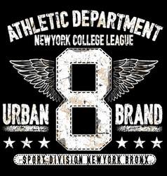 College new york typography t-shirt graphics vector