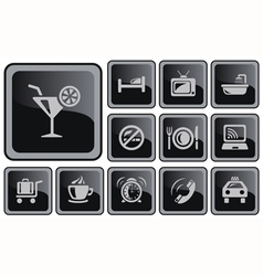 Hotel buttons vector