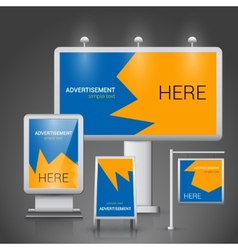Outdoor advertising template vector