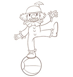 A plain sketch of a clown vector image