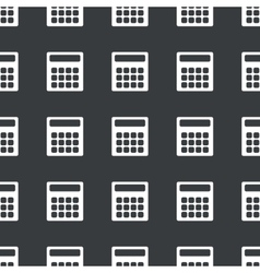 Straight black calculator pattern vector