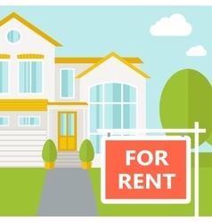 The house for rent vector