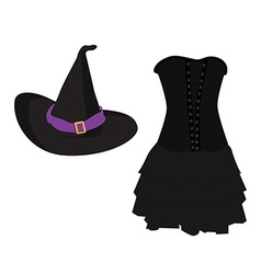 Witch costume vector